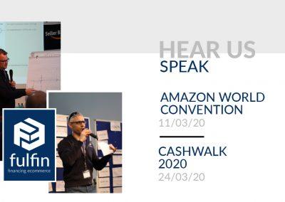 Hear us speak! Speakers News March