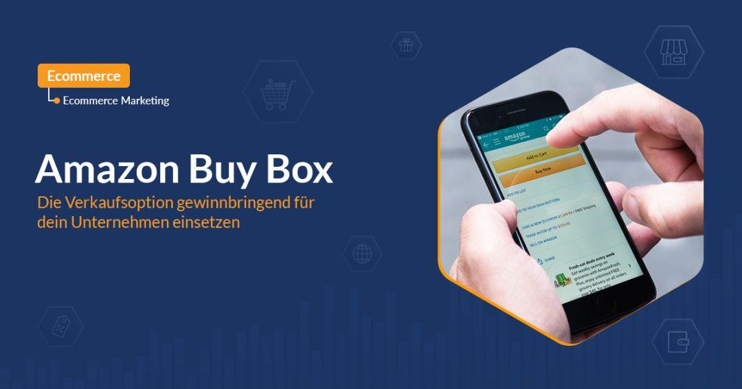 Amazon buy box mit Handy und Hand icon